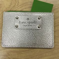 Kate spade credit card holder Rose gold brand new perfect for on the go kate spade Bags Wallets