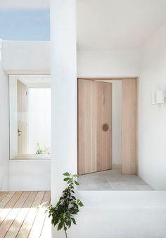 Architecture Design, Residential Architecture, Door Design, House Design, Banquette, Facade House, House Facades, Home Reno, Coastal Homes