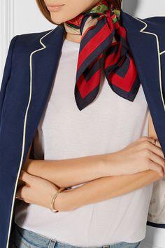 scarf knot + blazer