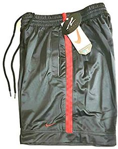 bb4f1034420 Nike X Andre Agassi Collection Tennis Shorts Dri-Fit Black Red Original Vintage  OG 1990 s