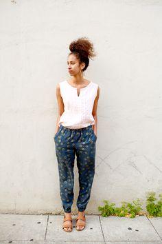 Luna Pants - Made by Rae in Ellen Baker fabric