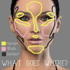 Art The Holy Trinity of Makeup: Contour, Highlight and Blush (credits: roseannetangrs) make-up-and-hair-i-m-slowly-learning All Things Beauty, Beauty Make Up, Diy Beauty, Beauty Hacks, Blush Beauty, Beauty Care, Fashion Beauty, Easy Contouring, Contouring And Highlighting