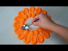 Easy rangoli design || satisfying,relaxing rangoli art - YouTube Festival Rangoli, Simple Rangoli, Rangoli Designs, Plant Hanger, Relax, Colours, Flowers, Youtube, Diy