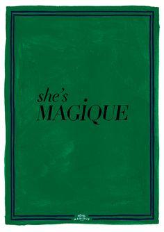 HOTEL MAGIQUE  She's Magique art print.  Shop online HOTELMAGIQUE.COM