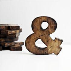 """Drewniane litery dekoracyjne sosnowe """""""