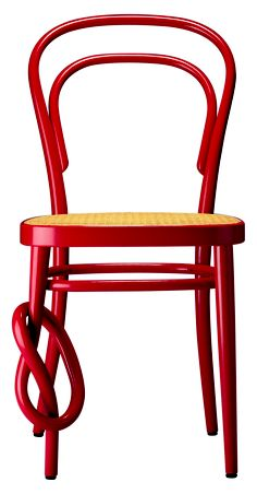 I love this cool take on the Thonet chair
