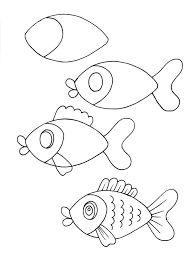 how-to draw fish - Gertrude Loukoum - Animal de soutien émotionnel - Art Drawings Fish Cartoon Drawing, Cartoon Drawings Of Animals, Cartoon Drawing Tutorial, Cartoon Fish, Guy Drawing, Drawing Cartoons, Easy Disney Drawings, Easy Doodles Drawings, Fish Drawings
