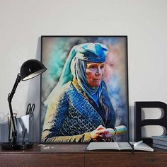 Olenna Tyrell  Game of Thrones Art Print Poster  by BlackSailsUK
