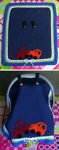 Baby carrier tent, free pattern by Maria Vazquez. Really nice for cold weather or bright sunlight. . . . . ღTrish W ~ http://www.pinterest.com/trishw/ . . . . #crochet #cover