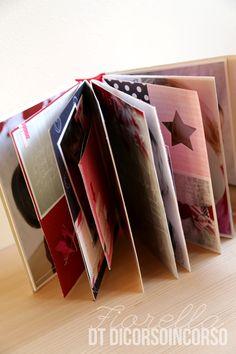 """""""Love this Moment - Minialbum a 4 mani: (Manu e Fiore)"""" per Di Corso in corso Mini Albums, Mini Scrapbook Albums, December Daily, Book Making, Mini Books, The 4, Birthday Cards, In This Moment, Love"""