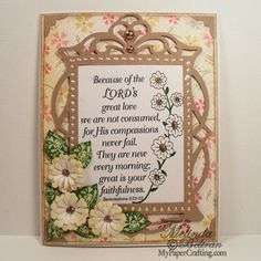 Flowers and leaves on card using stamps and inks from CTHM. http://www.mypapercrafting.com/2013/02/ctmh21613.html