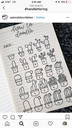 This is a massive list of bullet journal doodle tutorials to give you ideas and inspiration for your bujo doodles and - Salvabrani Bullet Journal Inspo, Bullet Journal 2019, Bullet Journal Ideas Pages, Bullet Journal Ideas Handwriting, Bullet Journal Christmas, Bullet Journal School, Doodle Drawings, Doodle Art, Easy Drawings