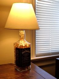 DIY project - Jack Daniels bottle lamp
