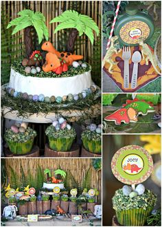 Una espectacular fiesta dinosaurio! / A spectacular dinosaur party!