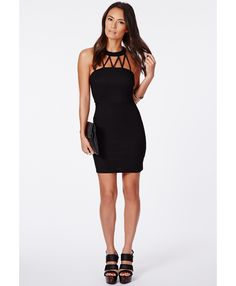 Marissa Mini Dress With Caged Front - Dresses - Mini Dresses - Missguided