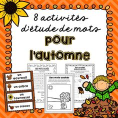 Word Work Activities, Autumn Activities, French Resources, High Frequency Words, More Words, Learn French, French Language, Motivate Yourself, Kids Learning