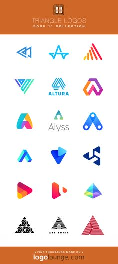 Book 11 Logo Collections - Triangle Logos Several of the triangle logos selected for LogoLounge Book ranging from simple monoline logos to more complex shapes. Web Design, Best Logo Design, Icon Design, Triangle Logo, Triangle Design, Triangle Shape, Logo Branding, Branding Design, Painting Logo