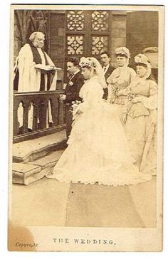 Great antique wedding image.