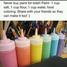 Never buy children's paint which can be very toxic even to inhale. Although this formula is not perfect, it is FAR LESS toxic than almost any child's paint sold at toy stores. And it REALLY works!