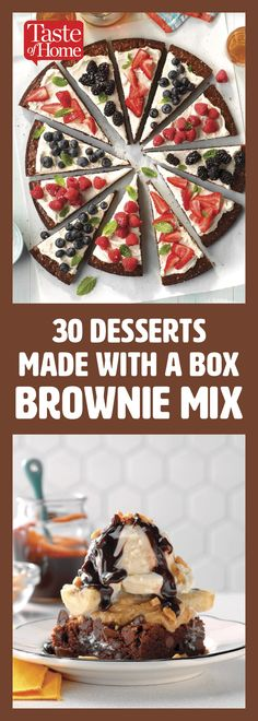 28 Desserts Made with a Box of Brownie Mix Brownie brownie mix Brownie Mix Desserts, Boxed Brownie Recipes, Brownie Mix Cookies, Cake Mix Recipes, Dessert Recipes, Creative Desserts, Easy Desserts, Delicious Desserts, Crockpot