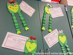 OMG! How cute are these frogs! Use them to display math facts or a book they've read. Jumping into... so cute!