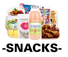"""-SNACKS- premade"" by swaggerkayla ❤ liked on Polyvore"
