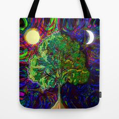 Night and Day Tote Bag by TreeofLifeShop - $22.00