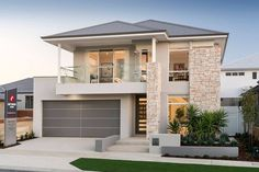 Residence in Hammond Park by Ben Trager Homes Modern House Exterior Ben Hammond Homes Park resi Residence Trager Double Storey House, 2 Storey House Design, Bungalow House Design, House Front Design, Modern House Design, Model House Plan, House Plans, Casas Containers, Dream House Exterior