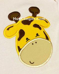 Applique Giraffe Face embroidery file HL1063 zoo applique animal applique by…
