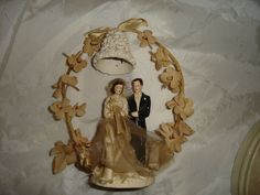 Vintage Wedding Cake Topper, 195O Bride and Groom | eBay