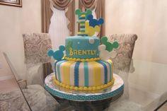 Birthday Cakes - Mickey 1st Boy Birthday Fondant