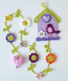 Your place to buy and sell all things handmade Crochet Home, Crochet Baby, Knit Crochet, Crochet Birds, Crochet Flowers, Crochet Blocks, Crochet Patterns, Crochet Keychain Pattern, Hello Kitty Purse