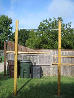 back yard pull up dip station diy crossfit pinterest homemade