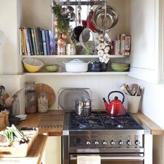 Rustic alcove kitchen | Small kitchens | Kitchen | PHOTO GALLERY | 25 Beautiful Homes | Housetohome