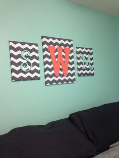 Monogram Wall Hanging by TheSororityStore on Etsy