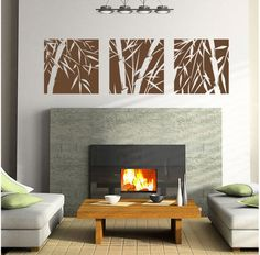 Bamboo pattern Art wall decal-Bamboo Art wall sticker