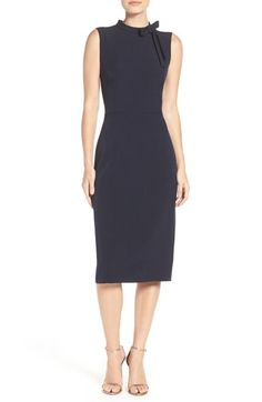 Free shipping and returns on Maggy London Bow Neck Dress (Regular & Petite) at Nordstrom.com. Sleek and simple in a streamlined midi silhouette with a touch of classic charm bedecked by a bow.