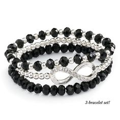 Infinity Bracelet Set - New Age, Spiritual Gifts, Yoga, Wicca, Gothic, Reiki, Celtic, Crystal, Tarot at Pyramid Collection