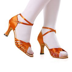 Womens Satin Ankle Strap Latin / Ballroom Dance Performance Shoes(More Colors Available)
