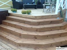 trappa,trappa efter,trädäck,altan,hörntrappa