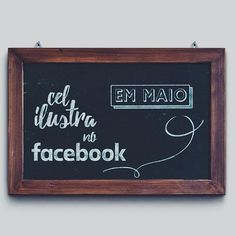 A partir do mês de maio você poderá me acompanhar também pelo #facebook! Os produtos estarão a venda lá mas página do @colab55 continuará no ar para quem preferir comprar online ou não for de BH. ---------------------------------------------- @celinagodoy || type: Debby || mock up: GB ---------------------------------------------- Para comprar sketchbooks, prints, cases e mais um monte de coisas legais é só acessar o link da bio ou www.colab55.com/@celinagodoy…