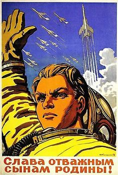 #Vintage russian propaganda #poster soviet space race retro ussr art #print a3,  View more on the LINK: http://www.zeppy.io/product/gb/2/121370241836/