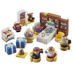 Fisher-Price Little People Hanukkah Set. I want this for my Dad, er, I mean my son, so badly!! LOL!