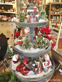 Christmas Vignette at White Rabbit Cottage