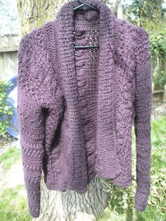 My first ever crocheted sweater...for mom. :)