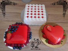 Zrkadlová poleva (mirror glaze) a zamatová čokoláda - foto postup +video - My site Mirror Glaze Cake, Food Decoration, Cake Tutorial, Food And Drink, Cream, Anna, Tutorials, Cakes, Creme Caramel