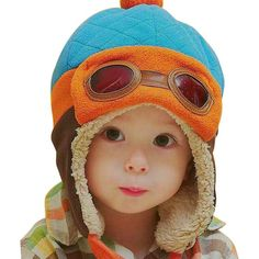 9a345c6b632 Baby Warm Caps Hat Toddlers Cool Baby Boy Girl Infant Winter Pilot Warm Cap  Hat Beanie Children Kids Hats Autumn Winter