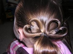 Messy Bun Pigtails, with Hearts! including Braiding, Princess Hairstyles plus more!