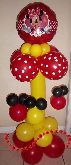 minnie mouse balloon column