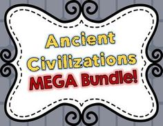Ancient Greece, Ancient Rome, Ancient Egypt and Ancient China This MEGA money saving bundle has a ton of fun, engaging and meaningful activities that will surely enhance your Ancient Civilizations units!